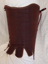 Brown Silk Renaissance Stays - Side View, by Sidney Eileen