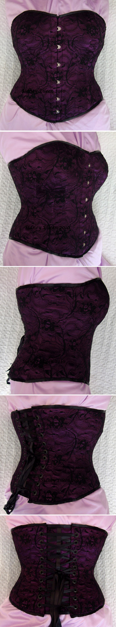 Purple and Black Lace Sweetheart - All Views, by Sidney Eileen