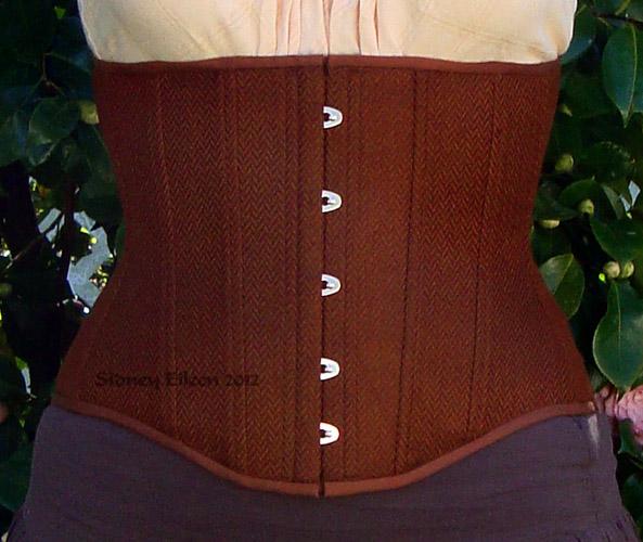 Brown Herringbone Underbust - Front View, by Sidney Eileen
