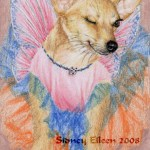 "Fairy Princess ACEO, Colored pencil on white paper, ACEO size, 2.5""x3.5"", by Sidney Eileen"
