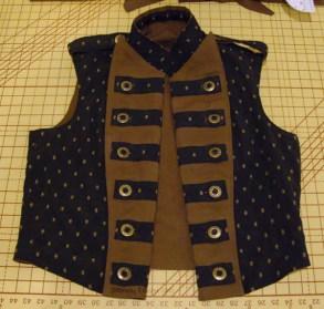 Men's Reversible Vest - Brocade, Open, by Sidney Eileen