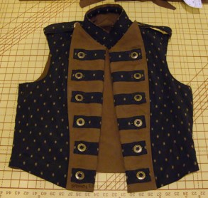 Men's Reversible Vest - Brocade, Open, by Sidney Eileen