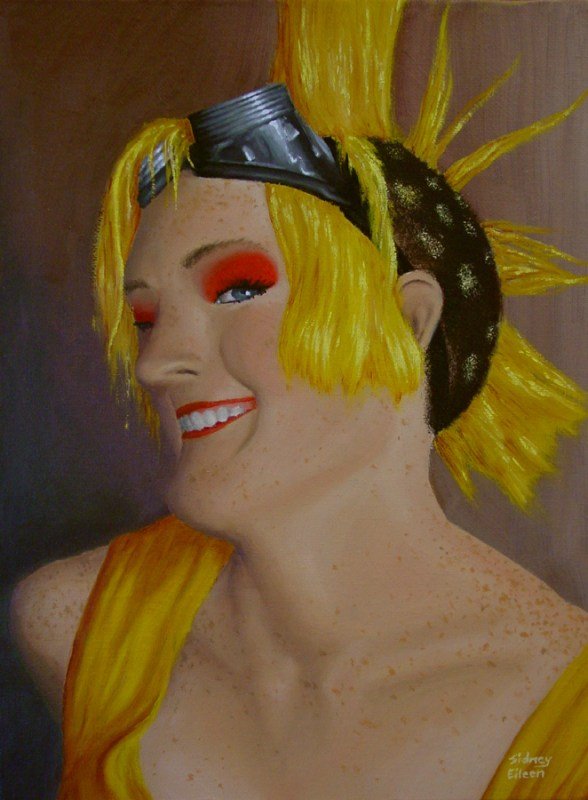 Title: Self Portrait - New Year 2009, Artist: Sidney Eileen, Medium: oils on canvas board