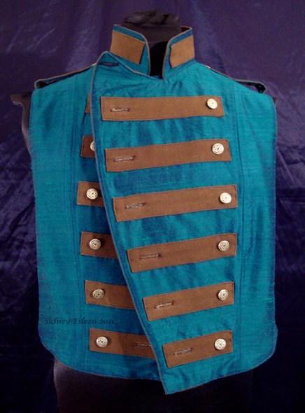 Colorful Violin Vest Final - Blue Side - Open
