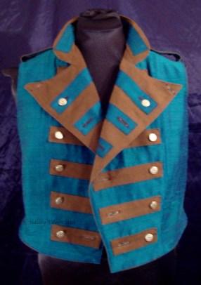 Colorful Violin Vest Final - Blue Side - Open With Both Sides Folded