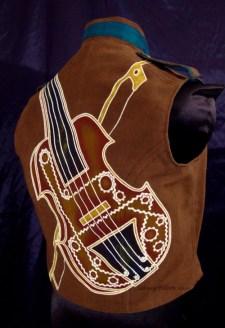 Colorful Violin Vest Final - Brown Side - Quarterback Painting