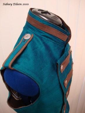 Colorful Violin Vest Prototype - Blue Side - Shoulder Detail