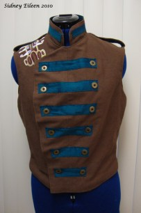Colorful Violin Vest Prototype - Brown Side - Closed Front