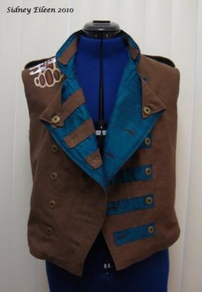 Colorful Violin Vest Prototype - Brown Side - Front Open