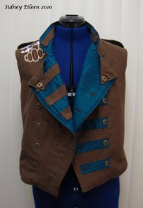 Colorful Violin Vest Prototype - Brown Side - Front Open