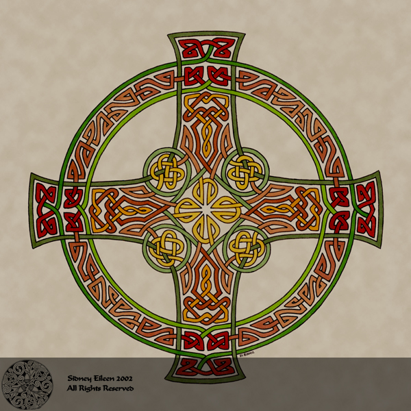 Title: Equilateral Celtic Cross, Artist: Sidney Eileen, Medium: pen and marker on paper