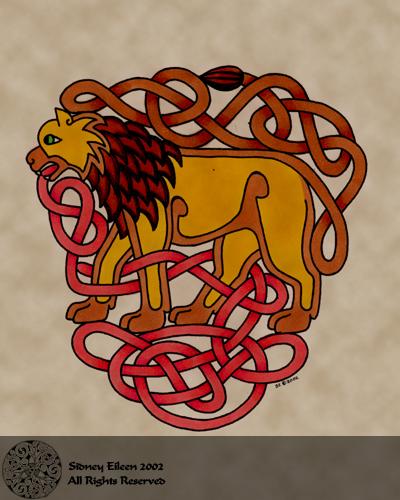 Title: Zoomorph Lion, Artist: Sidney Eileen, Medium: pen and marker on paper