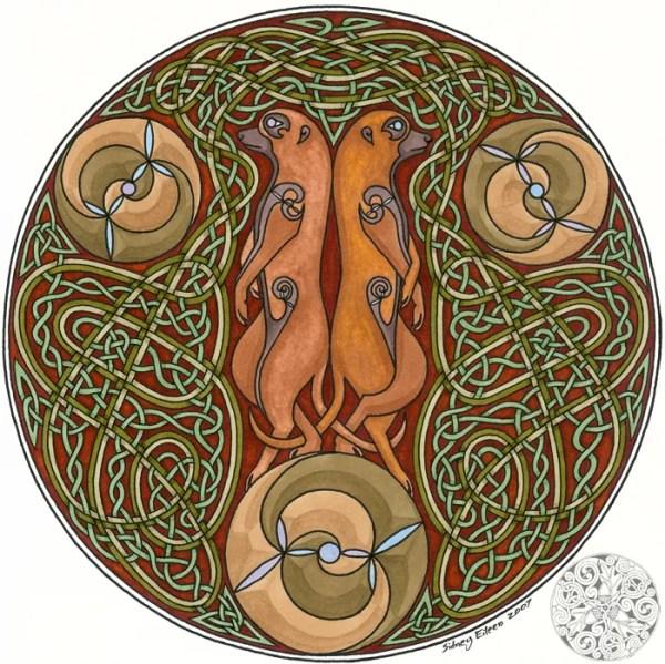 Title: Celtic Meerkats, Artist: Sidney Eileen, Article: A Method of Drawing Celtic Knotwork - Weaves