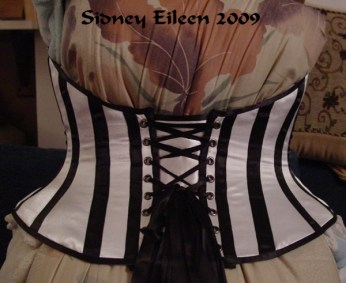 Low-Back Striped Merry Widow - Back View, by Sidney Eileen