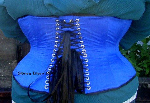Blue Silk Sweetheart - Back View, by Sidney Eileen