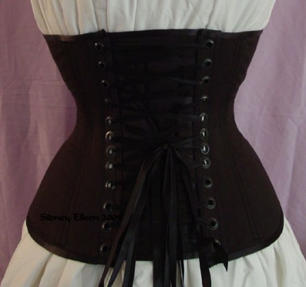 Plain Black Underbust - Back View, by Sidney Eileen