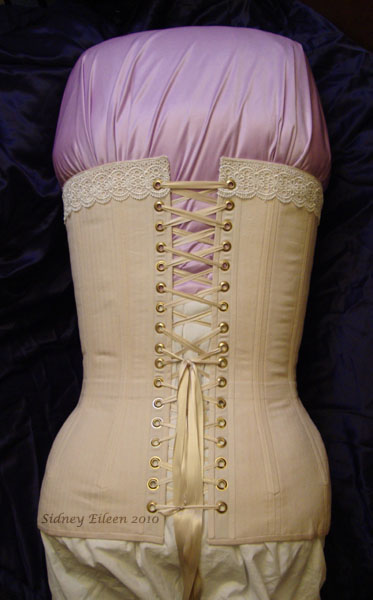 Plus-Sized Edwardian Long Line Overbust - Back View, by Sidney Eileen