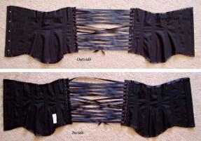 Black Low-Hipped Underbust - Open, by Sidney Eileen