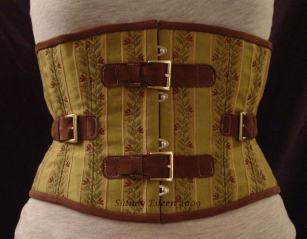 Brocade and Leather Steam - Front View, by Sidney Eileen
