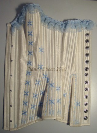 1880's Blue and Cream Silk Sweetheart - After Alteration, by Sidney Eileen