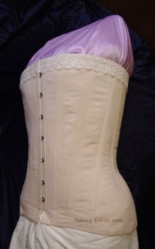 Plus-Sized Edwardian Long Line Overbust - Quarter Front View, by Sidney Eileen