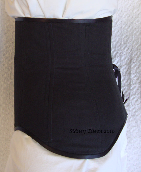 Black Low-Hipped Underbust - Side View, by Sidney Eileen