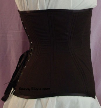 Plain Black Underbust - Side View, by Sidney Eileen