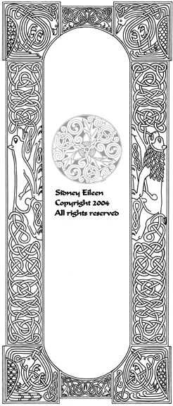 Title: Celtic Knotwork Panel, Artist: Sidney Eileen, Medium: pen on paper