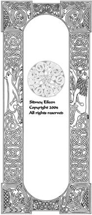 Title: Celtic Knotwork Panel, Artist: Sidney Eileen, Medium: pen on paper