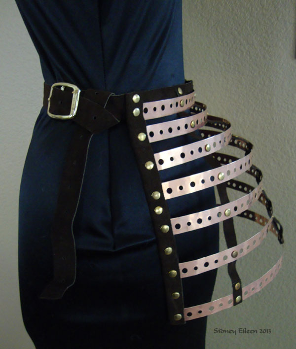 Leather and Copper Bustle, by Sidney Eileen