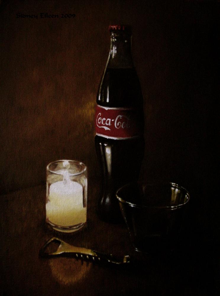 Title: Rembrandt's Coke, Artist: Sidney Eileen, Medium: oils on canvas board