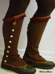 Brown Twill Gaiters, by Sidney Eileen