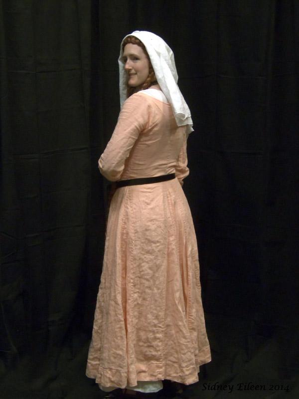 Peach Linen Front-Lace Kirtle - Quarterback by Sidney Eileen