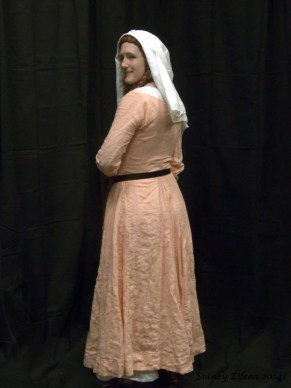 Peach Linen Front-Lace Kirtle - Quarterback by Sidney Eileen