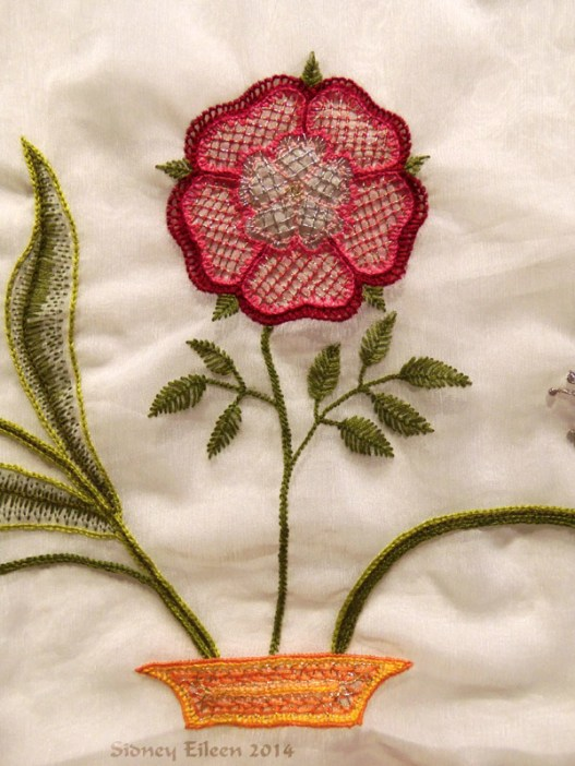 Scalloped Veil - Detail - Tudor Rose, by Sidney Eileen