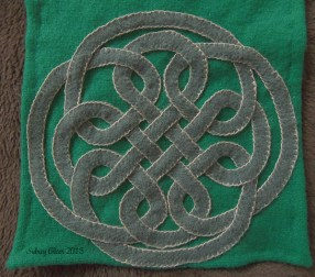 Knotwork Applique Belt Favor - Applique, by Sidney Eileen, wool on wool with linen thread