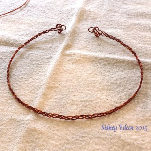 Three-Strand Copper Wire Circlet, by Sidney Eileen. This is my very first ever attempt at one of these.