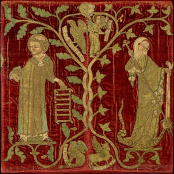 Opus Anglicanum Embroidery in the collection of Dumbarton Oaks Research Library and Collection: http://ica.princeton.edu/opus-anglicanum/view.php?record_no=830