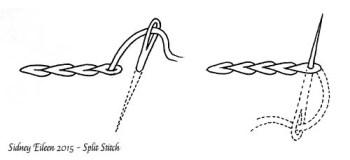 Split Stitch Illustration, by Sidney Eileen
