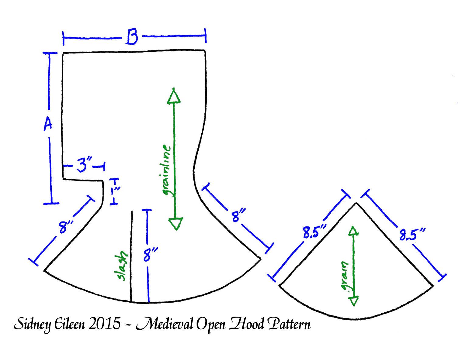 Medieval Open Hood Pattern - By Sidney Eileen