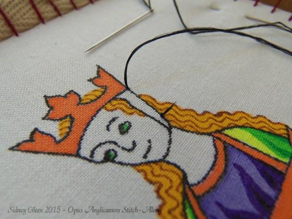 Opus Anglicanum Stitch-Along 009, by Sidney Eileen