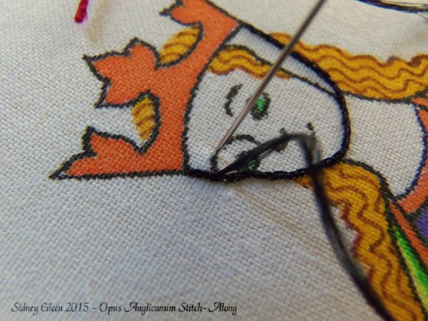 Opus Anglicanum Stitch-Along 018, by Sidney Eileen