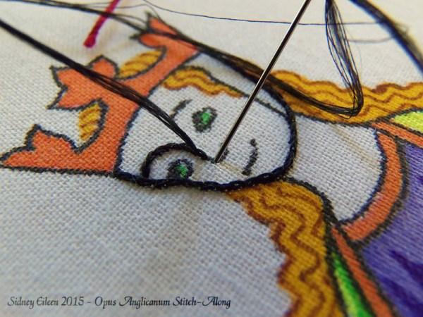 Opus Anglicanum Stitch-Along 021, by Sidney Eileen