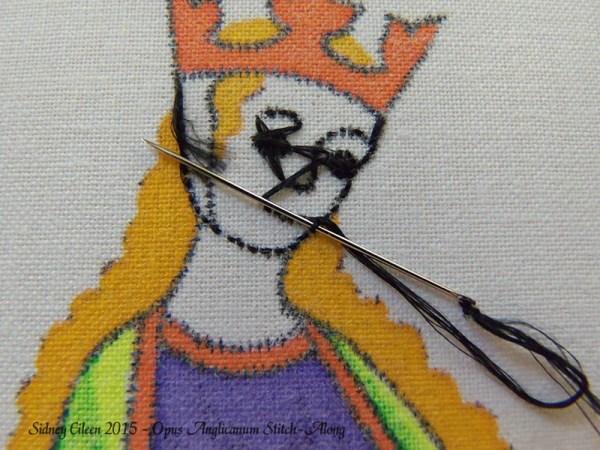 Opus Anglicanum Stitch-Along 035, by Sidney Eileen