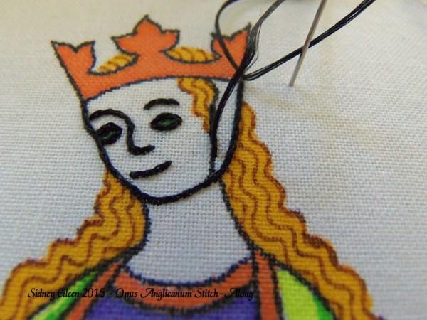 Opus Anglicanum Stitch-Along 041, by Sidney Eileen