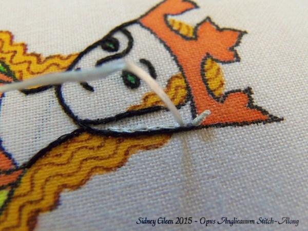 Opus Anglicanum Stitch-Along 047, by Sidney Eileen