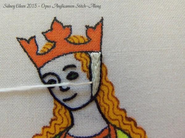 Opus Anglicanum Stitch-Along 051, by Sidney Eileen