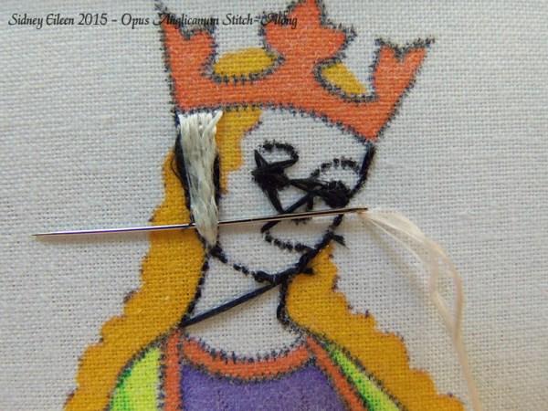 Opus Anglicanum Stitch-Along 057, by Sidney Eileen