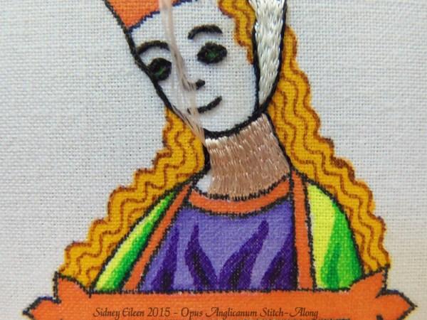 Opus Anglicanum Stitch-Along 064, by Sidney Eileen
