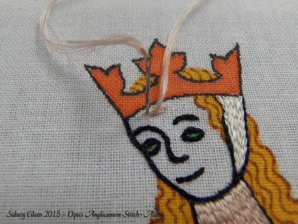 Opus Anglicanum Stitch-Along 076, by Sidney Eileen